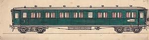 Eisenbahnwagen, handkoloriertes Aquarell um 1930 in gutem Zustand, Blattgröße: 7,5 x ...