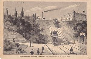 Straßenbahn-Elevator in Jersen-City (Nordamerika), Holzstich um 1870 nach einer ...