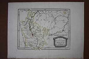 Die Herrschaft Dornik, grenzkolorierter Kupferstich um 1790 von Reilly, Blattgröße: 29 x...