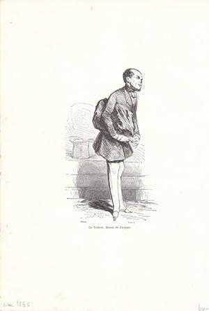 Der Schneider, Le Tailleur. Dessin de Pauquet, Druckgraphik um 1850, Blattgröße: 27,5 x ...