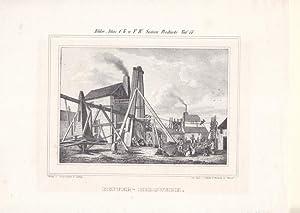 Kupfer-Bergwerk, Lithographie um 1840 aus der Lithographischen Anstalt F.W. Goedsche und Steinmetz ...