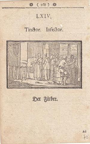 Der Färber, Tinctor, Infector, Holzstich um 1750, Blattgröße: 16 x 10,2 cm, reine ...