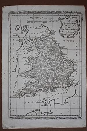 A New And Correct Map Of England and Wales From The Latest and Best Improvements, detaillierter K...