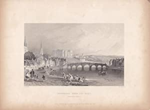 Inverness from the West (Inverness-shire), Stahlstich 1837 von R. Sands nach T. Allom, Blattgröße...