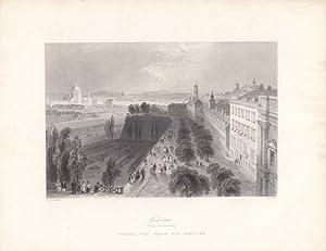 Vienna (From the Bastions), Stahlstich um 1850 von R. Wallis nach W.H. Bartlett, Blattgrö&...