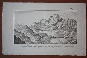 Die grosse Carthause u. ihre Umgebung in der Nähe von Grenoble (Entferntere Ansicht), ...
