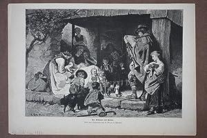 Der Pifferaro auf Reisen, Holzstich um 1886 nach dem Ölgemälde von R. Grob in Mü...