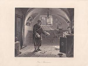 Das Praevenire, Stahlstich um 1850 von A.H. Payne nach C. Naumann, Blattgröße: 20 x 26,5...