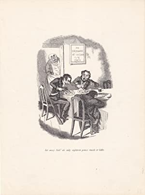 Gaststätte, Restaurant, Holzstich um 1860, Blattgröße: 24,5 x 18 cm, reine Bildgr&...