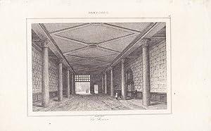 Hamburg Börse, Hambourg La Bourse, Stahlstich um 1840 von Lemaitre, Blattgröße: ...
