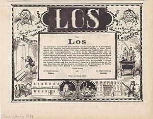 Das Los, Lotto, Glücksspiel, Chemiographie von 1877, Blattgröße: 21 x 26,8 cm, ...