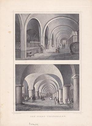Der Stadt-Weinkeller, Bremen, Stahlstich um 1870 von Joh. Poppel nach J. Gottheil, Blattgrö&...