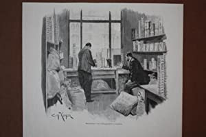 Musterzimmer eines Kaffeegeschäftes in Hamburg, Holzstich um 1895 von Kueshler, Blattgrö&...