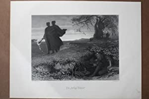 Die heilige Vehme, Femgericht, Feme, Lithographie 1877 von A. Lüttmann nach A. von Kreling, ...