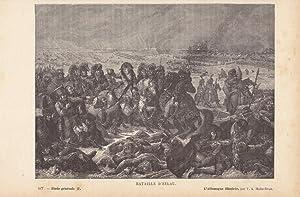 Bataille d Eylau, Napoleon, Schlachtfeld, Holzstich um 1870 von Victor Adolph Malte - Brun (1816 - ...