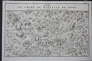 Plan du champ de bataille de Hoff, Landsberg, Umgebungskarte, Kupferstich von 1807 von Ambroise ...