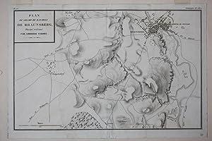 Plan du champ de bataille de Braunsberg, Umgebungskarte, Kupferstich von 1807 von Ambroise Tardieu ...