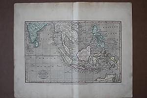 East Indies from the best Authorities, altkolorierter Kupferstich um 1810 von Kickwood & Sons, ...