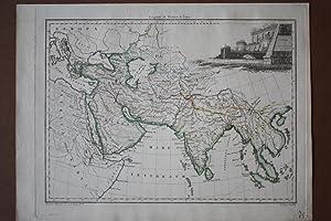India, Scythia, Arabia, Mare Erythraeum, altkolorierter Kupferstich um 1810 von Chamouin nach ...