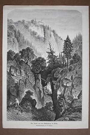 Das Kloster auf dem Ottilienberge im Elsaß, Holzstich um 1870 nach R. Aßmus, Blattgr&...