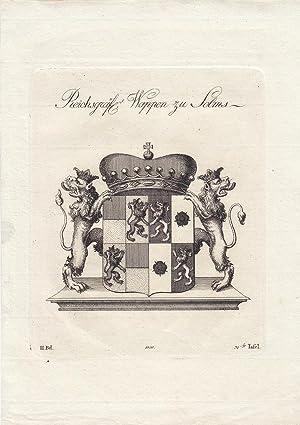 SOLMS: Reichsgräfl. Wappen zu Solms (1800). Kupferstiche bei Tyroff, Nürnberg. Ca. 1786-...