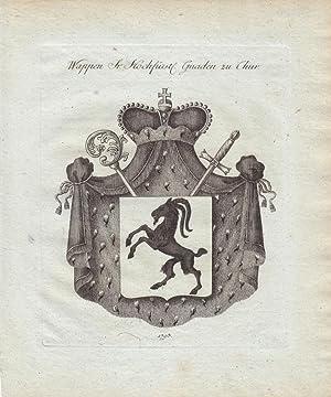 Wappen Sr. Hochfürstl. Gnaden. (1793). Kupferstiche bei Tyroff, Nürnberg. Ca. 1790-1810. ...