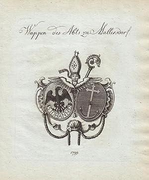 Wappen des Abts. (1799). Kupferstiche bei Tyroff, Nürnberg. Ca. 1790-1810. Meist datiert (...