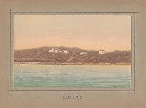 Bellevue, Farblithographie um 1880, Blattgröße: 15,5 x 21 cm, reine Bildgröße...