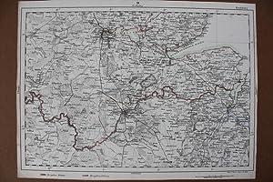 Rendsburg, Eckernföhrder Hafen, Kieler Hafen, Schleswig, grenzkolorierter Stahlstich um 1860 ...