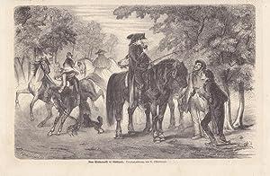 Vom Pferdemarkt in Stuttgart, Holzstich um 1865 nach C. Offterdinger, Blattgröße: 16,5 x...