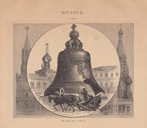 Moskau, Zarenglocke, The great Bell at Moscow, Holzstich um 1880, Blattgröße: 17,7 x 20,5 cm, rei...