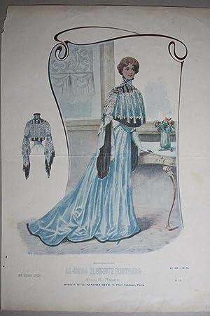 La Moda Elegante Ilustrada, Italienische Mode, Hauskleid,
