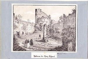 """Kynast ( Kreis Hirschberg / Riesengebirge ) - """" Hofraum der Burg Kynast """". Anonyme ..."""
