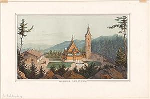 Brückenberg ( Kreis Hirschberg / Riesengebirge ) - Ansicht der Kirche Wang.Anonyme alt ...