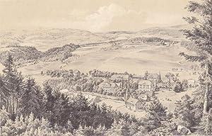 Bad Nieder-Langenau ( Kreis Habelschwerdt / Grafschaft Glatz ) - Gesamtansicht von einer Anh&...