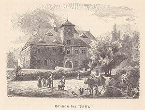 Grunau ( Kreis Neisse / Oberschlesien )