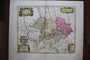 """Niederschlesien - Herzogtum Wohlau. """"Ducatus Silesiae Wolanus. Authore Iona Sculteto Sprotta ..."""