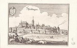 Böblingen / Württemberg. Gesamtansicht von Westen mit eindrucksvoller Darstellung ...