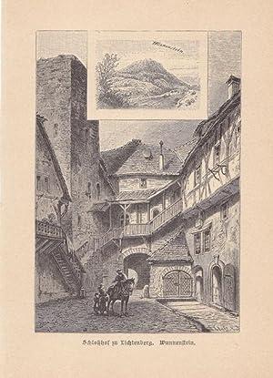 Lichtenberg, OA. Marbach / Württemberg. Blick in