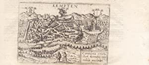 """Kempten - """" Campidonia peruetustum . """" Kombination von Vogelschau und Ansicht von Osten &..."""