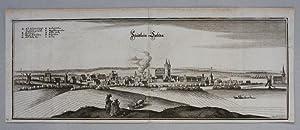 Schönebeck - Bad Salzelmen Kupferstich von Merian, um 1650. 13,5 x 37 cm.: Schönebeck - Bad ...