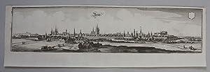 Zerbst, Kupferstich von Merian, um 1650. 11,5 x 49,5 cm.: Zerbst: