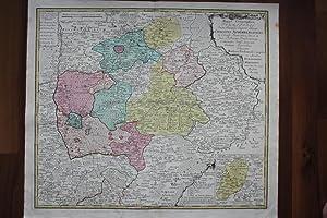 "Nürnberg - "" Mappa Geographica Territorii S R I l Civitatis Norimbergensis . "". ..."