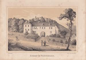 """WALTERSHAUSEN - """" Kemnate zu W."""". Ansicht der sogenannten Kemenate mit umliegenden Geb&..."""