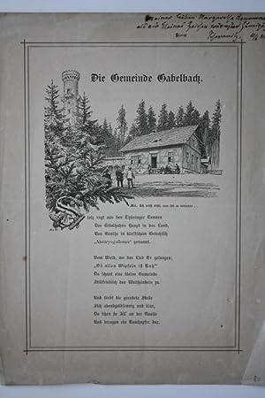 Die Gemeinde Gabelbach.: Scheffel, Joseph Victor von: