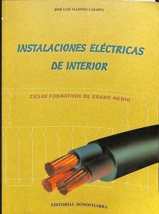 Instalaciones Eléctricas De Interior Ciclos Formativos De
