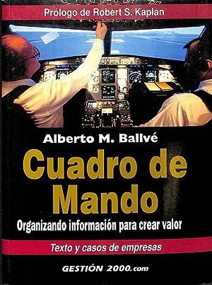 CUADRO DE MANDO - ORGANIZANDO INFORMACIÓN PARA: ALBERTO M. BALLVE