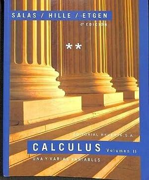 CALCULUS UNA Y VARIAS VARIABLES VOLUMEN II.: Carles CASACUBERTA VERGÉS