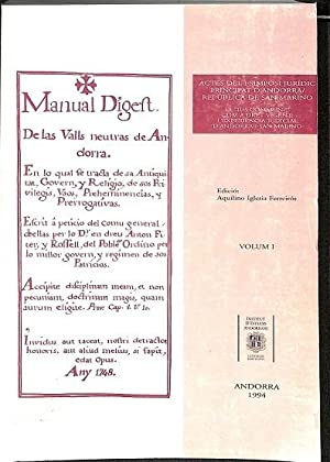 MANUAL DIGEFT. ACTES DEL I SIMPOSI JURIDIC: VARIOS