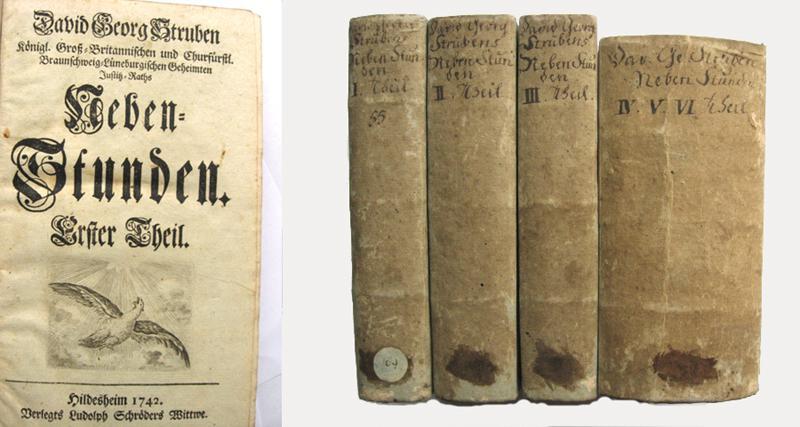 Neben-Stunden (6 Teile in 4 Bänden).: Struben, David Georg